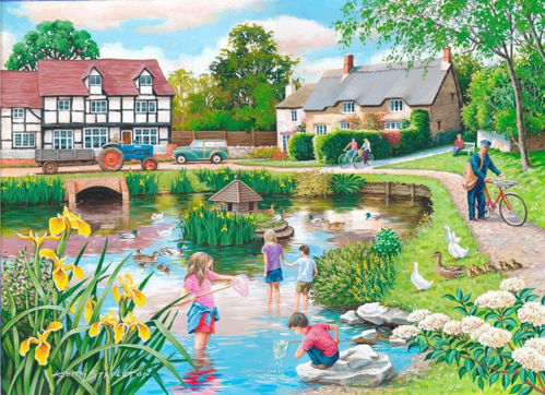 250 Large Piece Puzzle - Duck Pond, large 3.6cm pieces for easy gripping, durable board pieces, Size: (l) 48cm x (w) 34cm, boxed