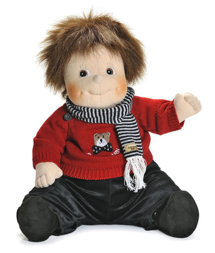 Empathy Doll - Teddy, nurture doll for dementia patients, washable removable clothes, size: (l) 50cm, weight: 1kg