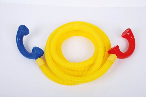 Talking Tube, retro style telephone handsets with 3 metres of flexible plastic tubing, enables conversation between rooms or indoors/outdoors, washable, size: tubing 3m.