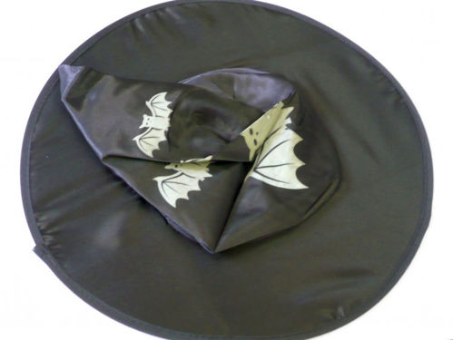 Witches Hat Adult Halloween Party Fun Accessory, man made washable fabric, lightweight, one size
