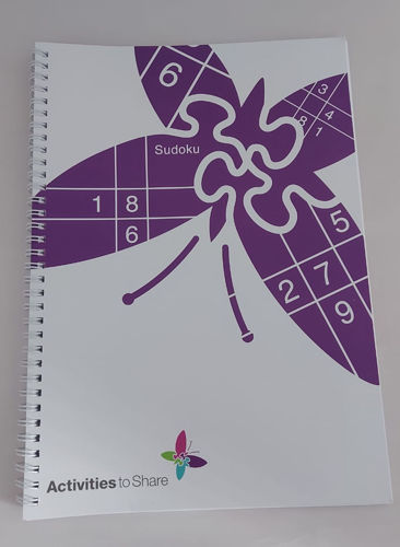 Large Print Sudoku Book, extra large bold print, simple clues suitable for older people dementia sight impaired care home residents, size: A4 softback spiral-bound book