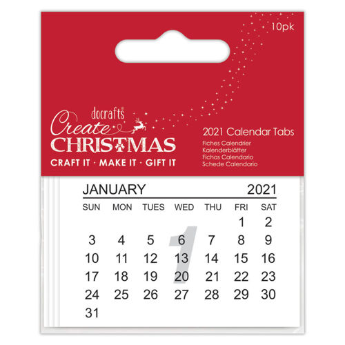 2021 Calendar Tabs, pack of 10, great for group craft activity sessions,  care home easy craft, paper pages, one per month