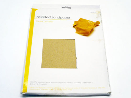 Sandpaper pack, 12 assorted grade sheets