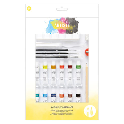 Activities to Share - Acrylic Starter Set with paints, brushes and stencils