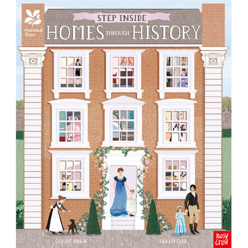 Homes Through History, National Trust die cut pages to learn about middle ages to present day, hardback book with 48 pages, size: (l) 30cm x (w) 25.5cm x (d) 1cm