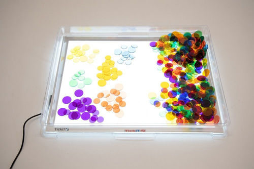 Light Panel Container Cover, for use with A3 light panels, clear acrylic tray, fully washable, Size: (l) 49cm x (w)37cm x (d)53.cm. Internal depth 4.4cm.