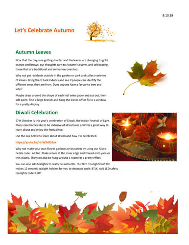 Activities to Share - Let's Celebrate Autumn