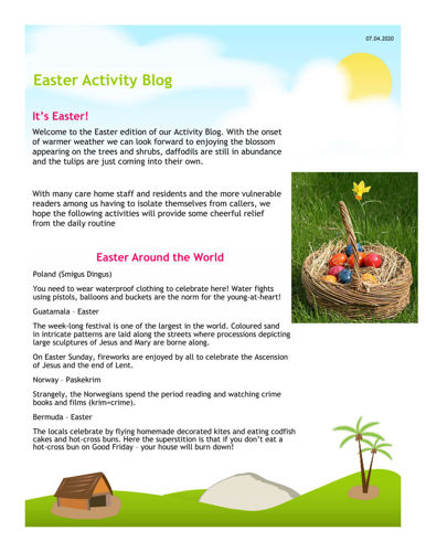 Activities to Share - Easter Activity Blog