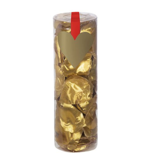 Gold Rose Petals, lightweight fabric gold petals for craft or table decoration, 288 petals in a clear plastic tube