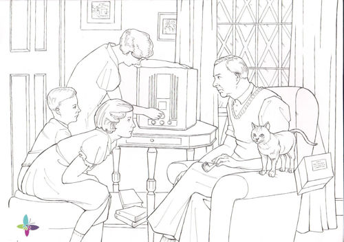 Picture of Listen to the Wireless Colouring Activity