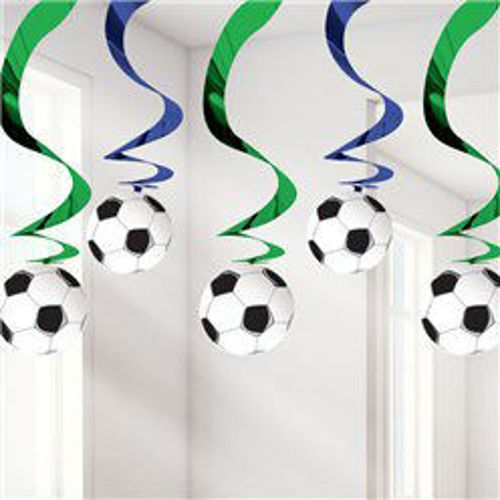 Picture of Football Hanging Swirls (pack of 5)