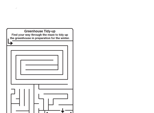 Picture of Greenhouse Tidy -  Activity Download