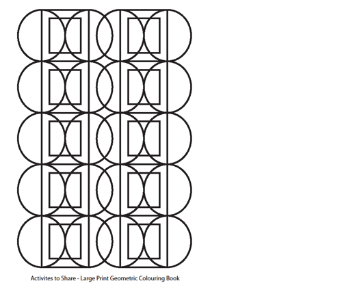 Picture of Geometric Colouring Sheet - Circles and Squares