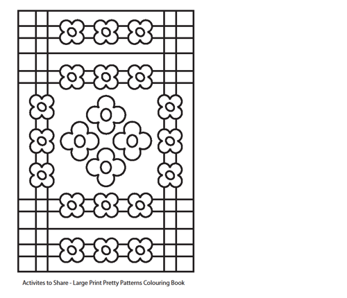 Picture of Pretty Patterns Colouring Sheet Activity  - Forget-me-knots