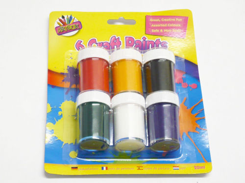 Picture of Bold Coloured Finger Paints (Pack of 6)