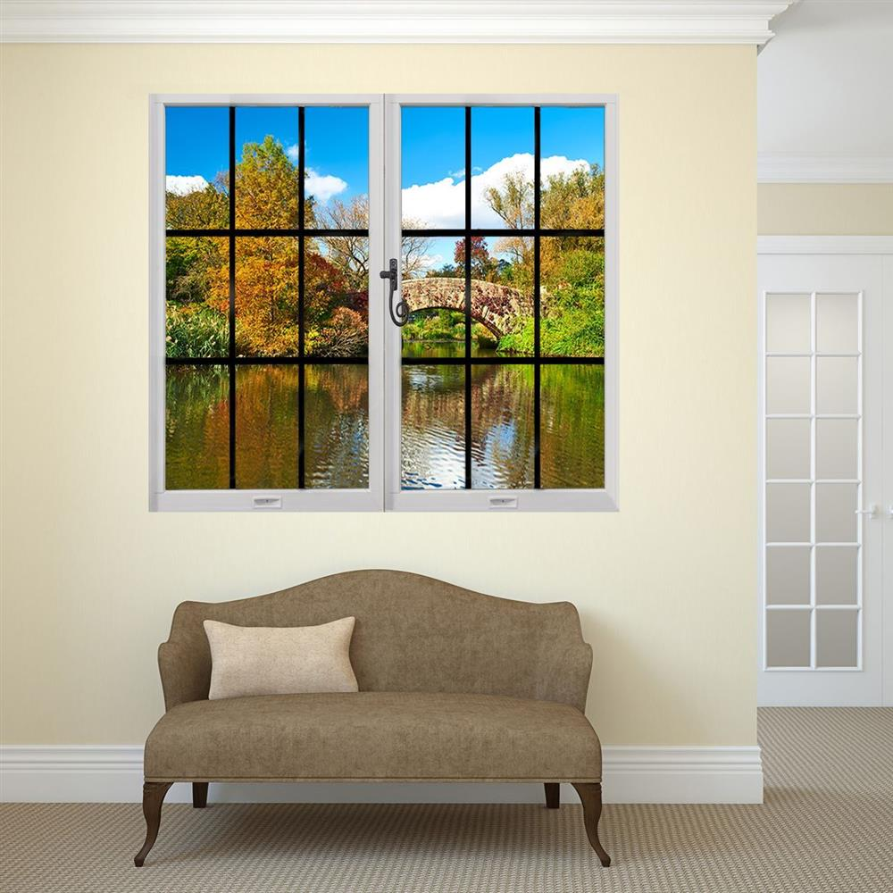 Through the window wall mural - Riverside View | Activities to Share