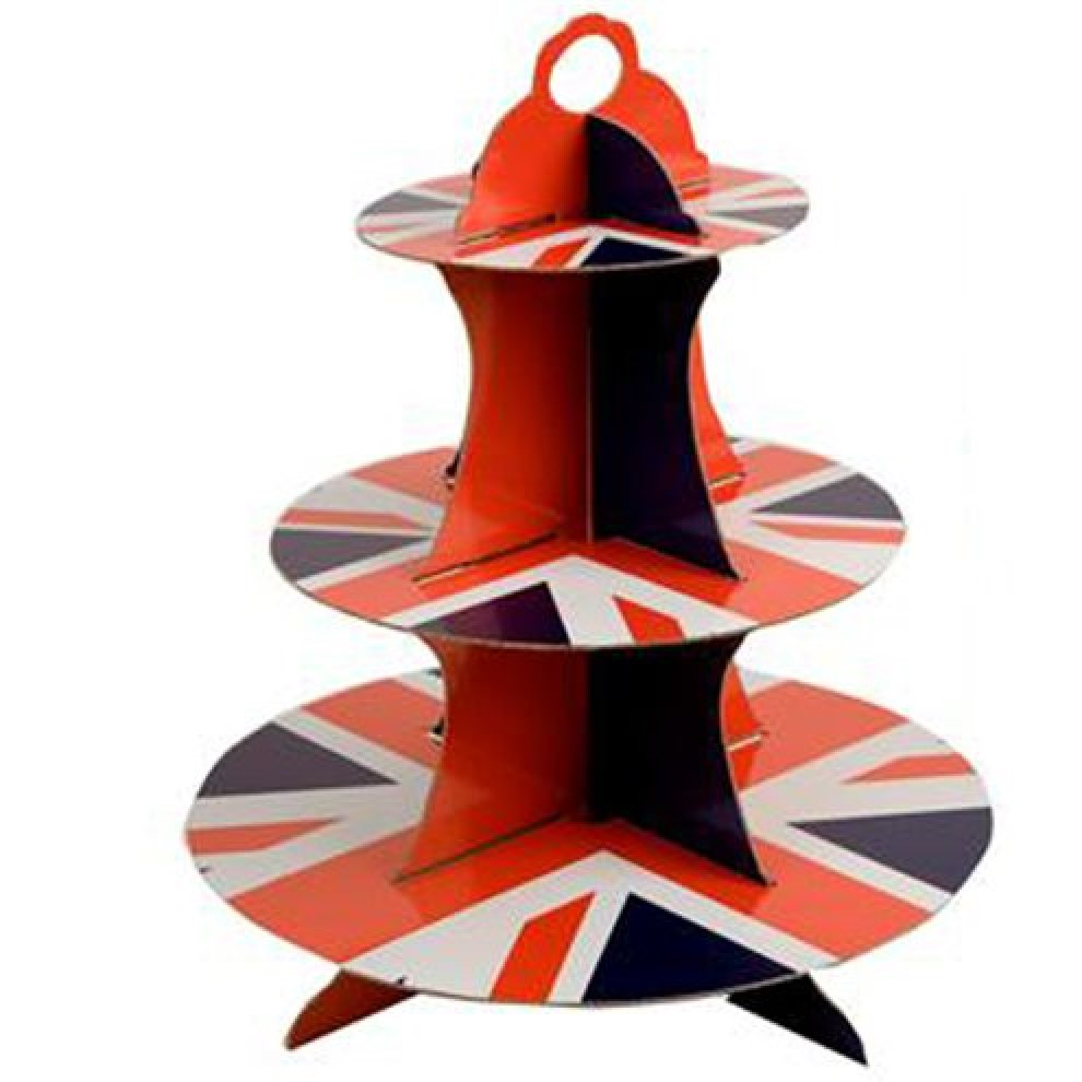 Union Jack Cake Stand 3 Tier - Activities to Share