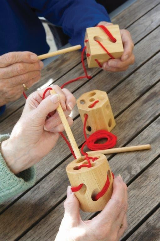 Wooden Lacing Blocks - Activities to Share